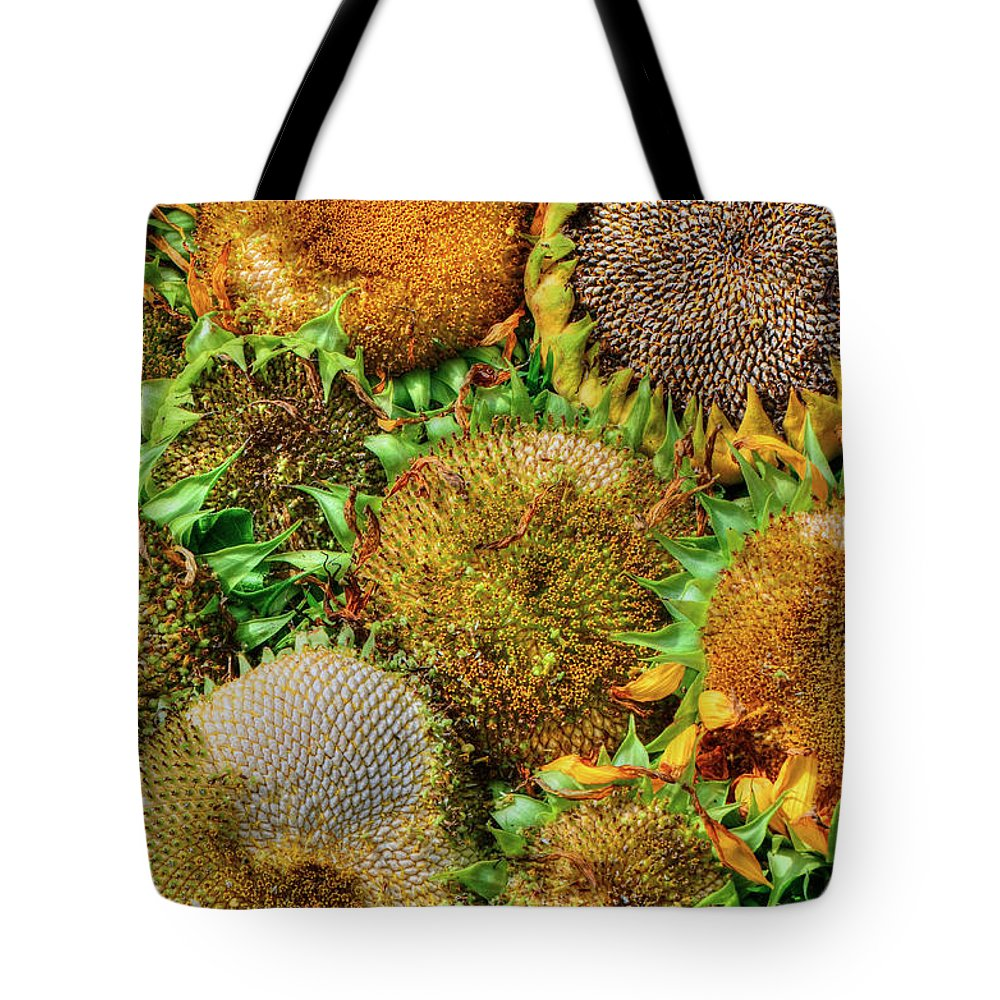 Sunflower Tote Bag featuring the photograph Sunflower Harvest by Charlotte Schafer