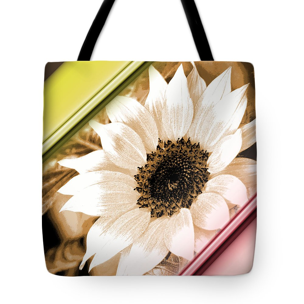 Sunflower Tote Bag featuring the digital art Sunflower Rail by Nicki Bennett