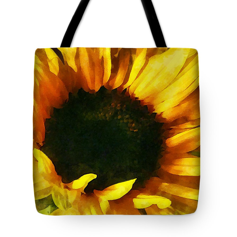 Sunflower Tote Bag featuring the photograph Sunflower Shadow And Light by Susan Savad