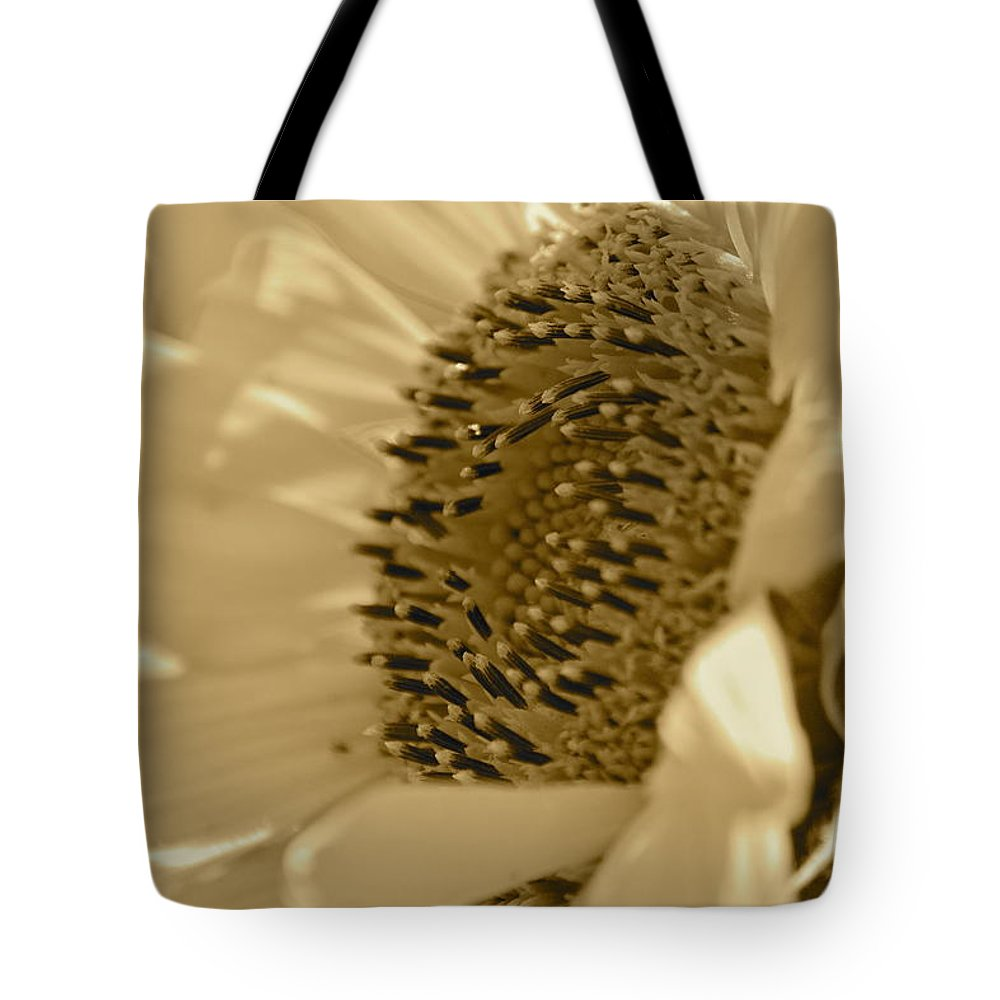 Flower Tote Bag featuring the photograph Sunflower by Sheryl Bergman