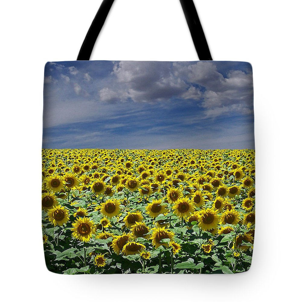 Botanicals Tote Bag featuring the digital art Sunflowers Forever by Ernie Echols