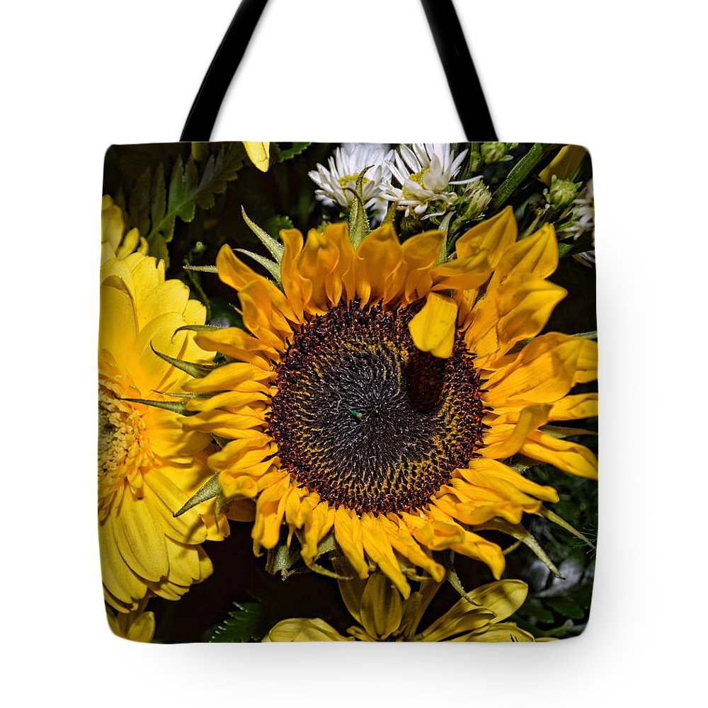 Sunflower Tote Bag featuring the photograph Sunflowers by Mark Orr