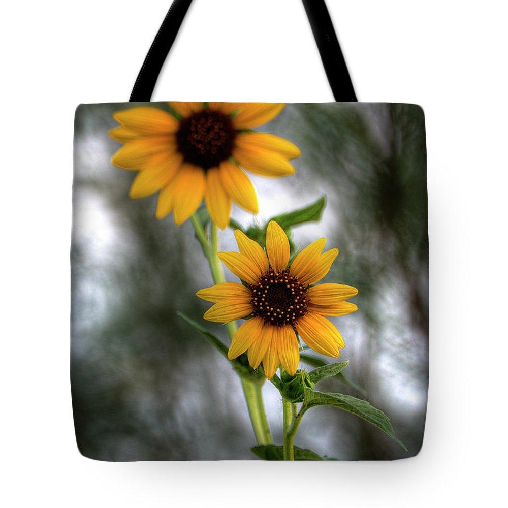 Yellow Sunflowers Tote Bag featuring the photograph Sunflowers by Saija Lehtonen