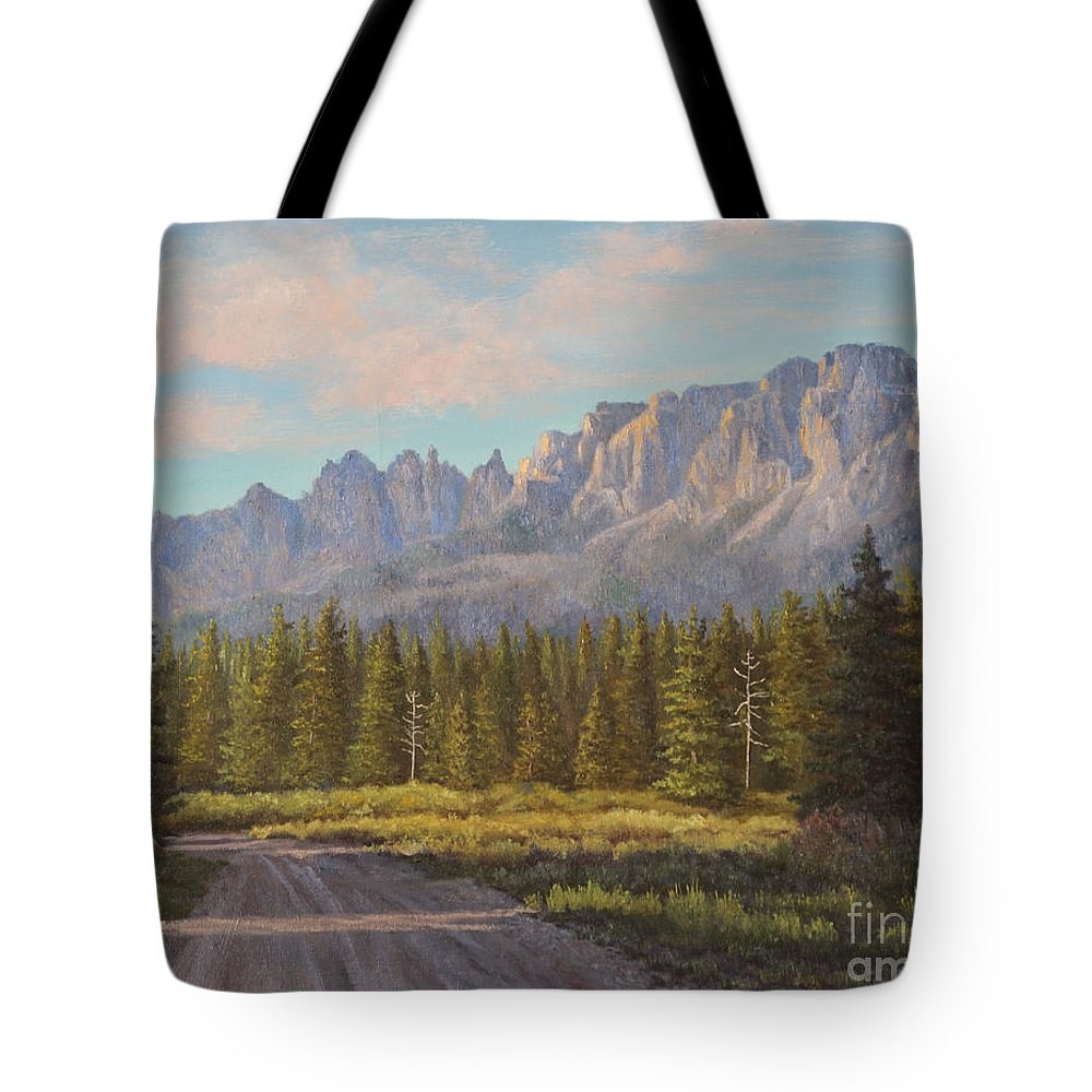 Oil Painting Tote Bag featuring the painting Sunlight And Shadows by Irene Leach