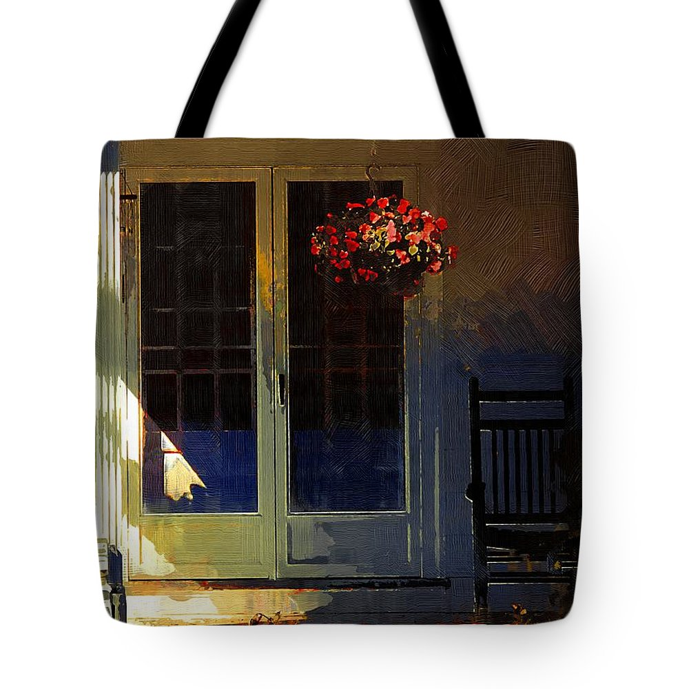 House Tote Bag featuring the painting Sunlight On Scarlet - New England Autumn by RC DeWinter