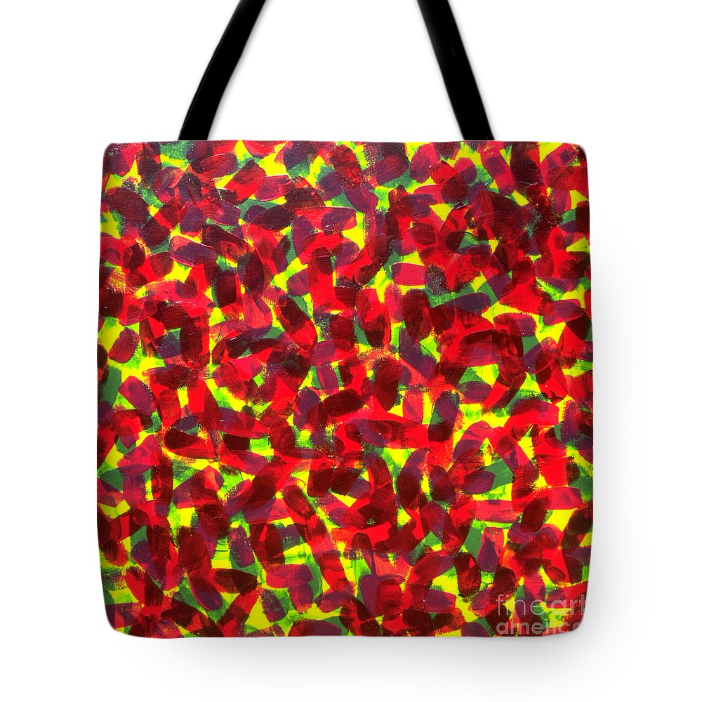 Abstract Tote Bag featuring the painting Sunlight Through The Trees by Dean Triolo