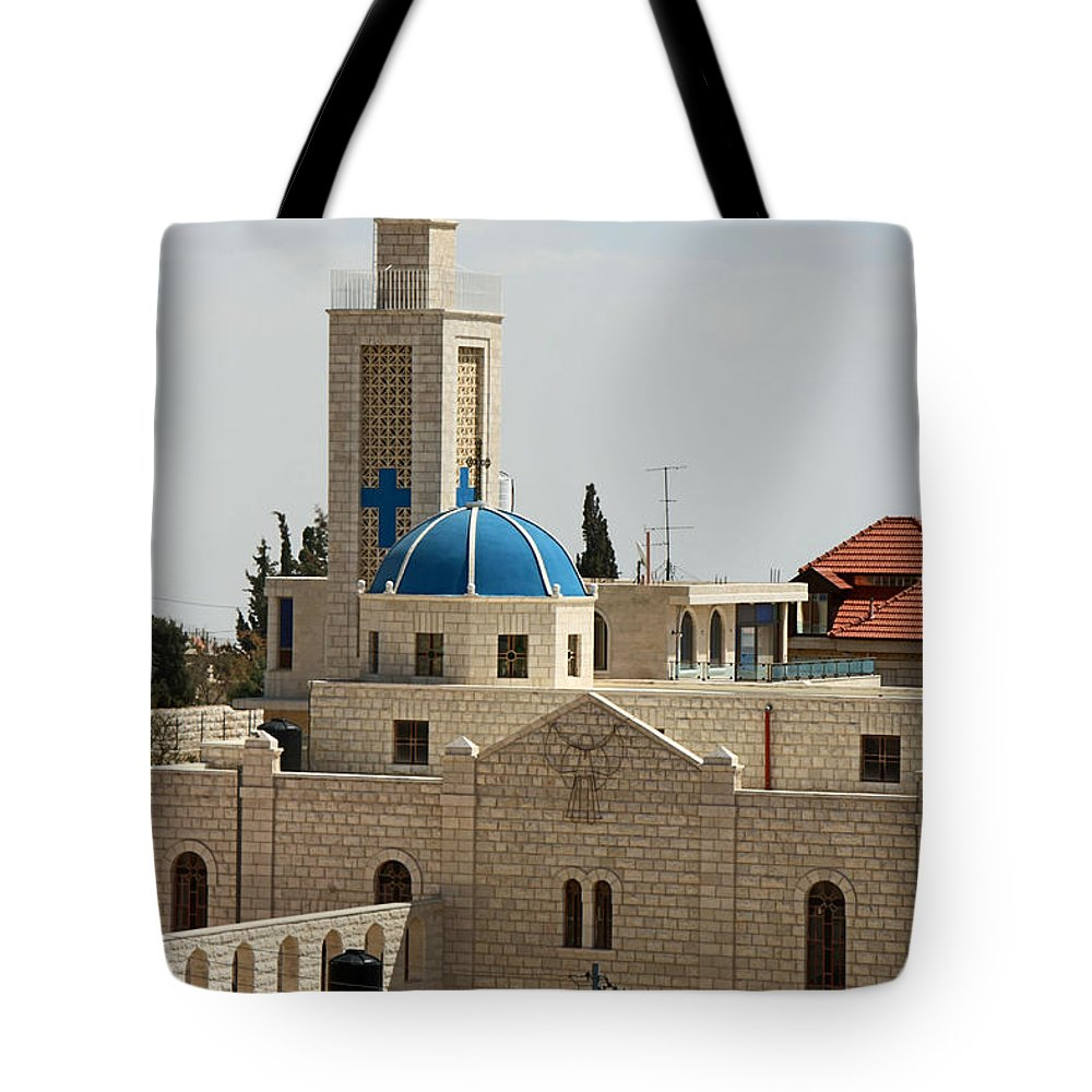 Taybeh Tote Bag featuring the photograph Sunny Day by Munir Alawi