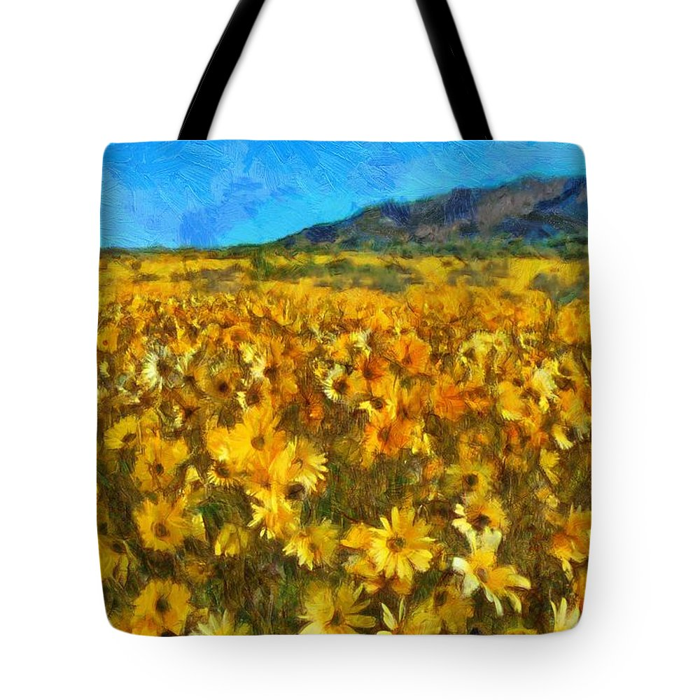 Sunny Meadow Tote Bag featuring the photograph Sunny Meadow by Sergey Lukashin