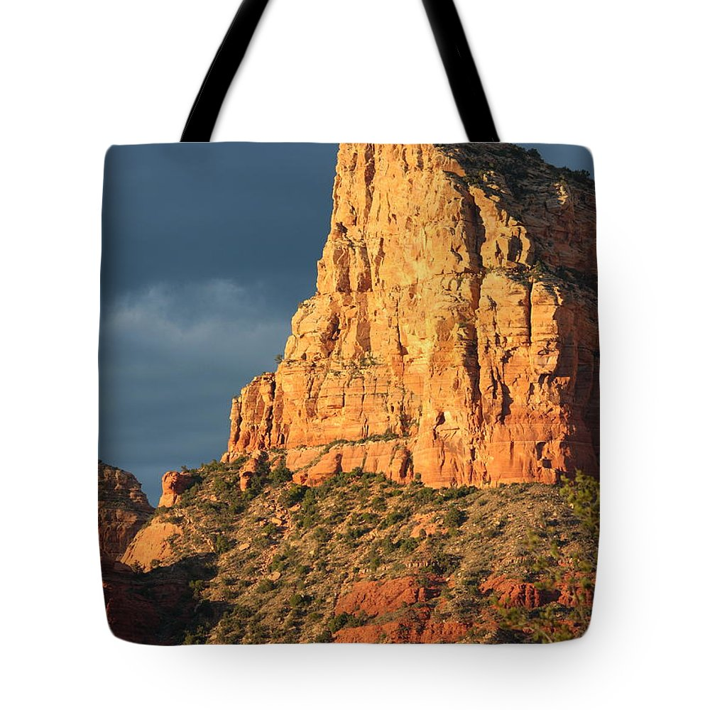 Sedona Tote Bag featuring the photograph Sunny Side Of Sedona by Carol Groenen
