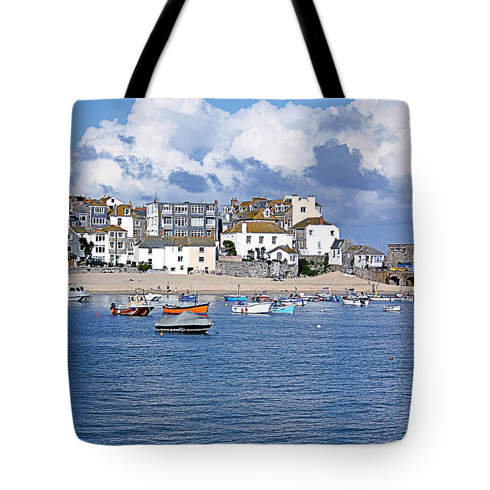 Harbour Beach Tote Bag featuring the photograph Sunny St Ives by Terri Waters