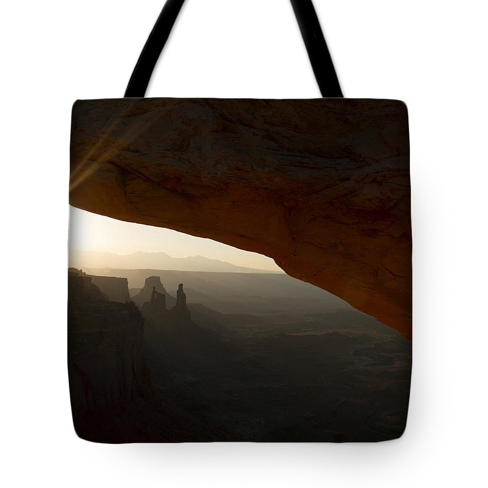 Sunrise Tote Bag featuring the photograph Sunrays by Debby Richards