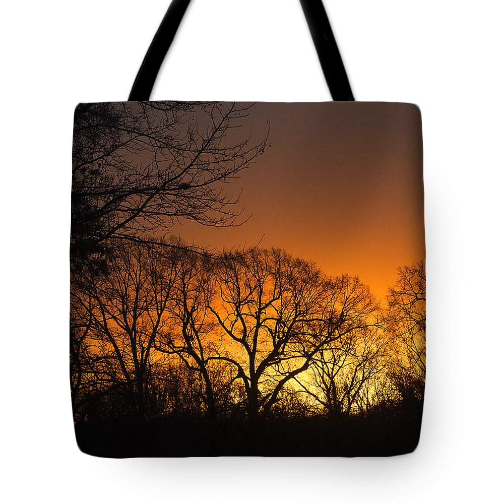 Sunrise Tote Bag featuring the photograph Sunrise - Another Perspective by John Dauer
