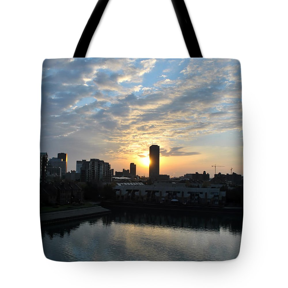 Sunrise Tote Bag featuring the photograph Sunrise Arise Buffalo Ny V2 by Michael Frank Jr