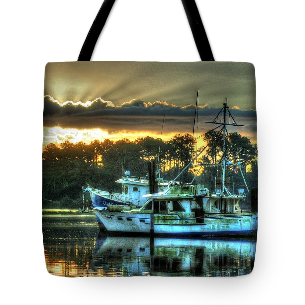 Alabama Tote Bag featuring the digital art Sunrise At Billy's by Michael Thomas