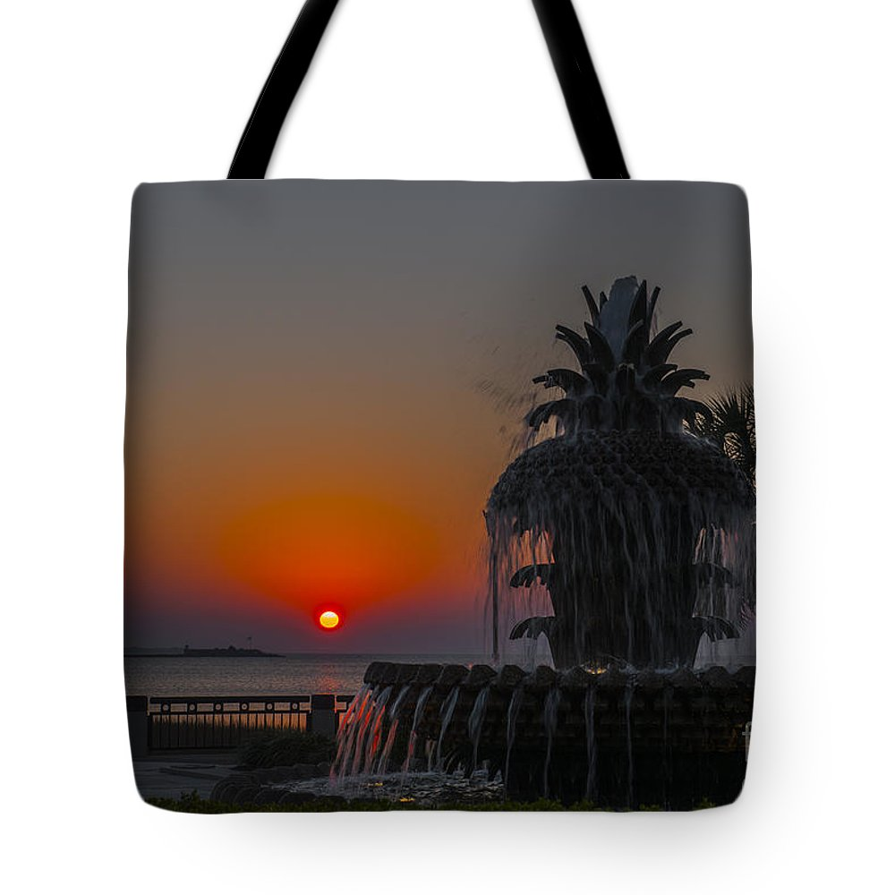 Pineapple Fountain Tote Bag featuring the photograph Sunrise by Dale Powell