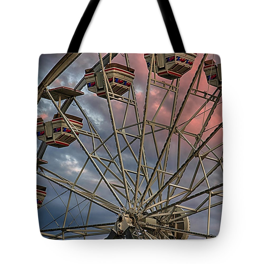 Amusement Tote Bag featuring the photograph Sunrise Ferris Wheel by Jerry Fornarotto