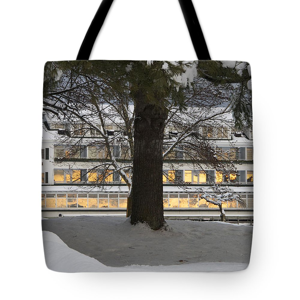 Meredith Tote Bag featuring the photograph Sunrise Reflection by Michael Mooney