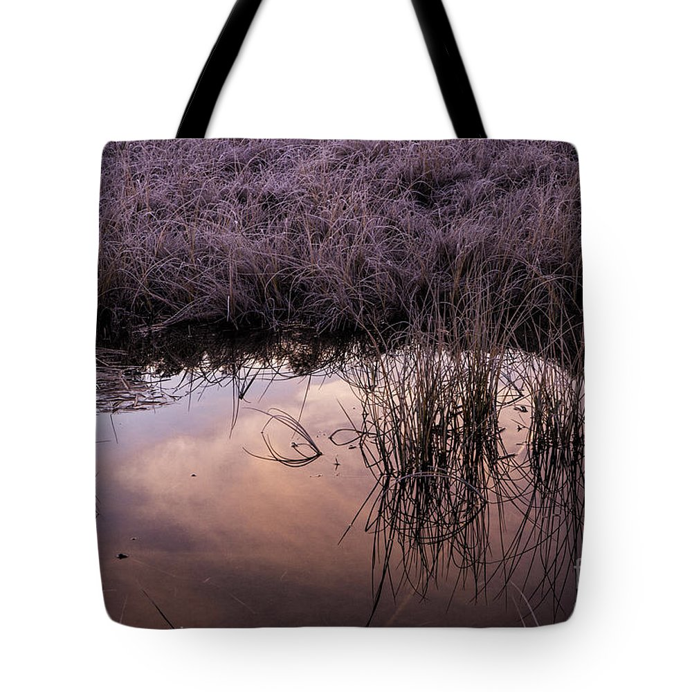 Pontresina Tote Bag featuring the photograph Sunrise Reflection by Timothy Hacker
