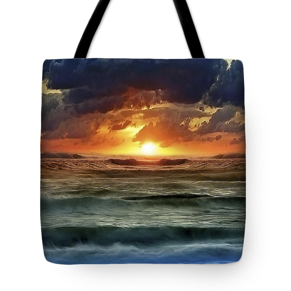 Sunset Tote Bag featuring the photograph Sunset 12 by Ingrid Smith-Johnsen