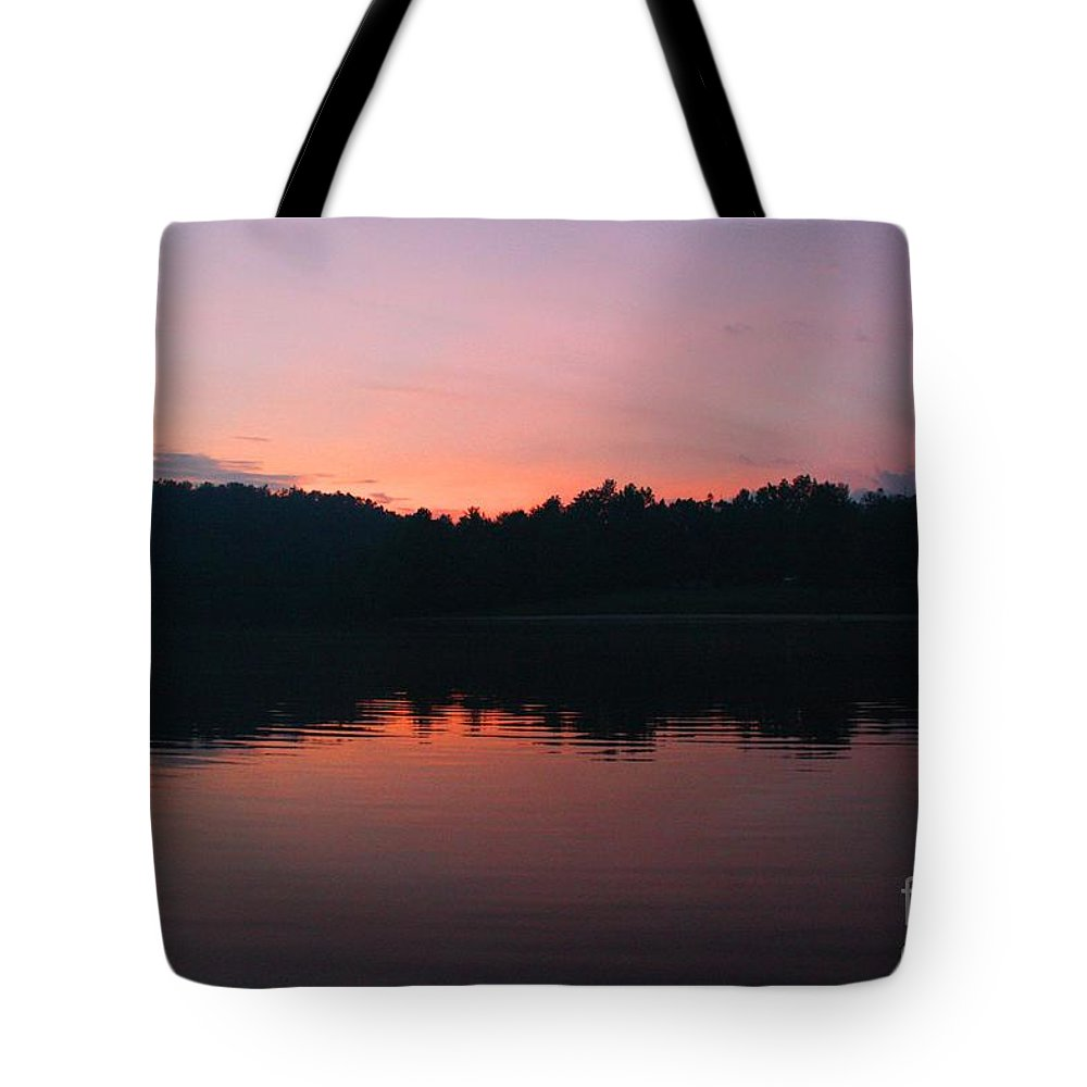 Mountains Tote Bag featuring the photograph Sunset At Indian Boundary by Tia Patton