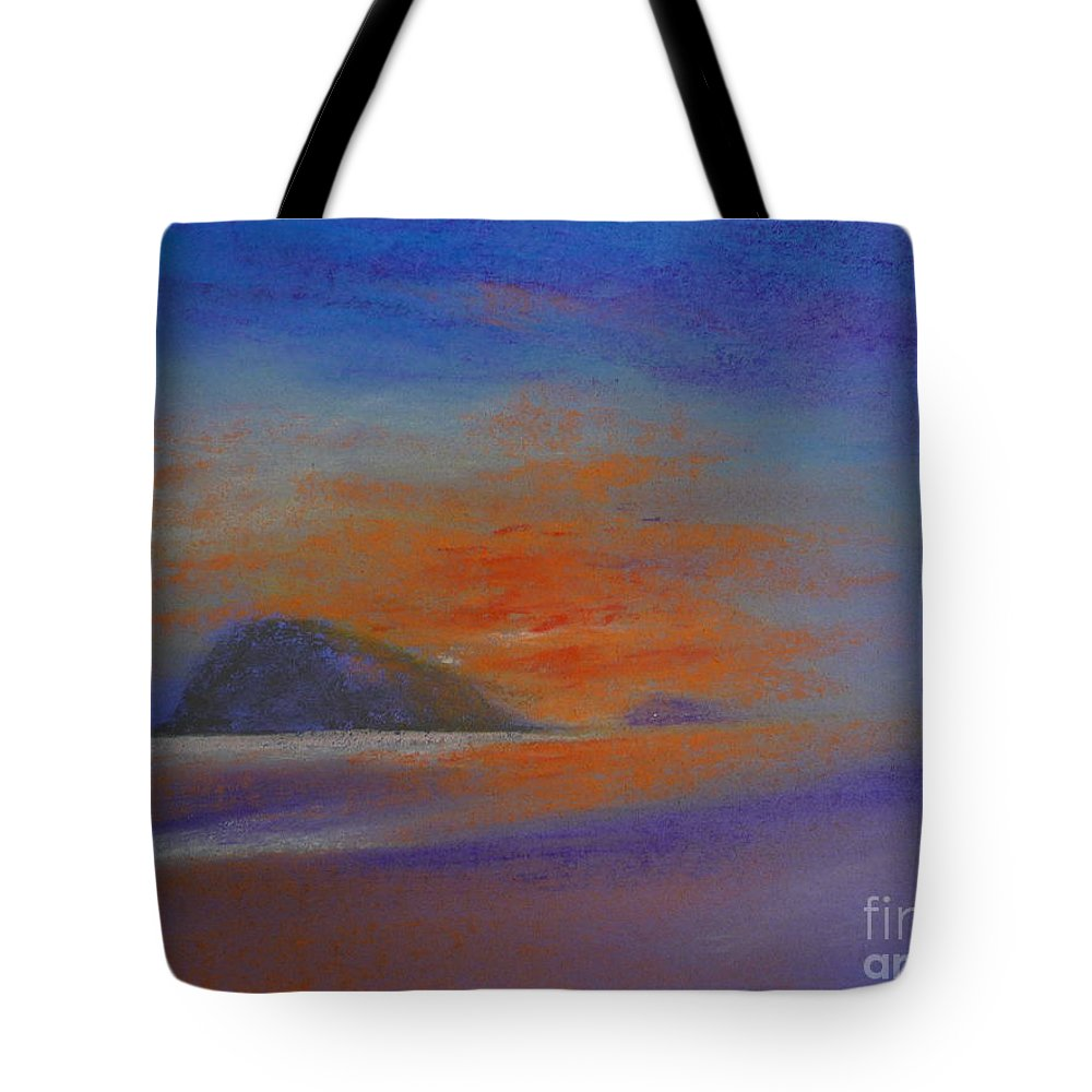 Seascape Tote Bag featuring the painting Sunrise by Pusita Gibbs