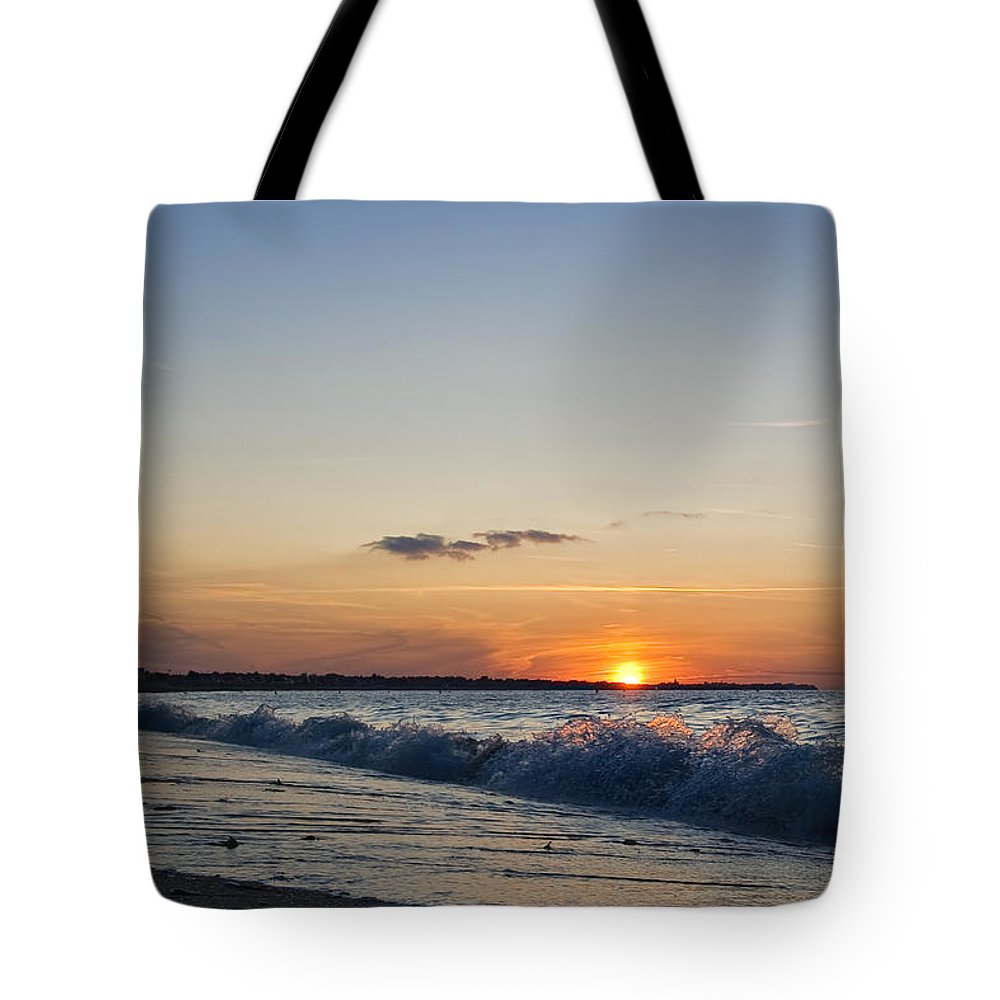 Sunset Tote Bag featuring the photograph Sunset At Riva by Jean-Pierre Ducondi