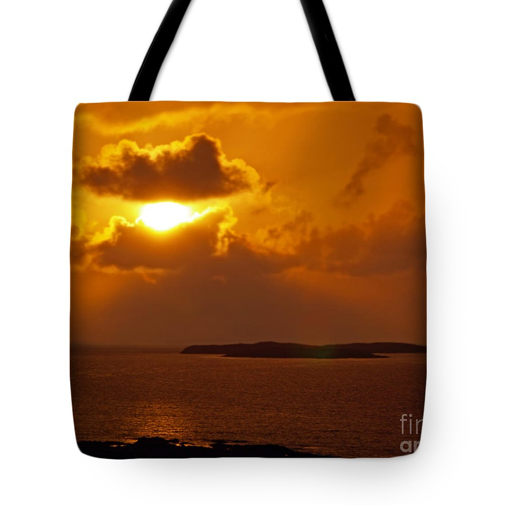 Fine Art Photography Tote Bag featuring the photograph Sunset From The Dolphin Watch Cottage by Patricia Griffin Brett