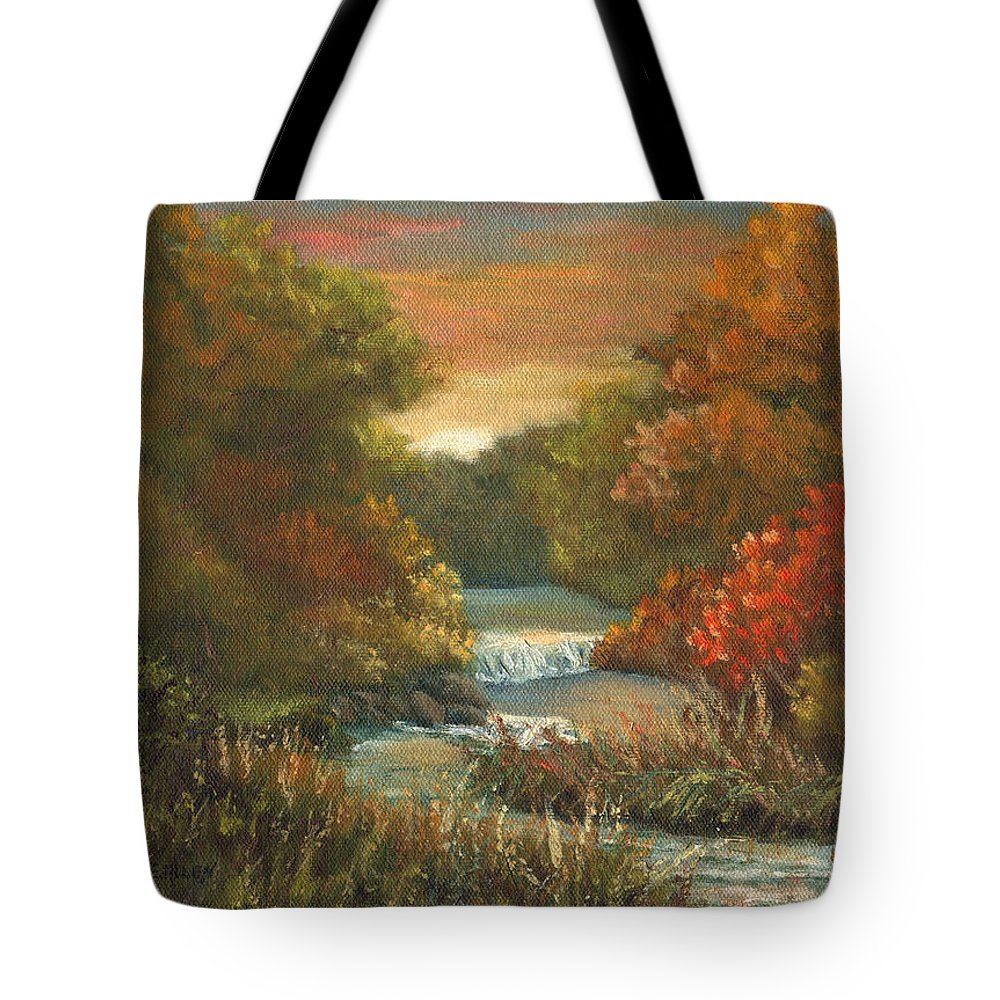Sunset Tote Bag featuring the painting Sunset Glow by Sharon E Allen