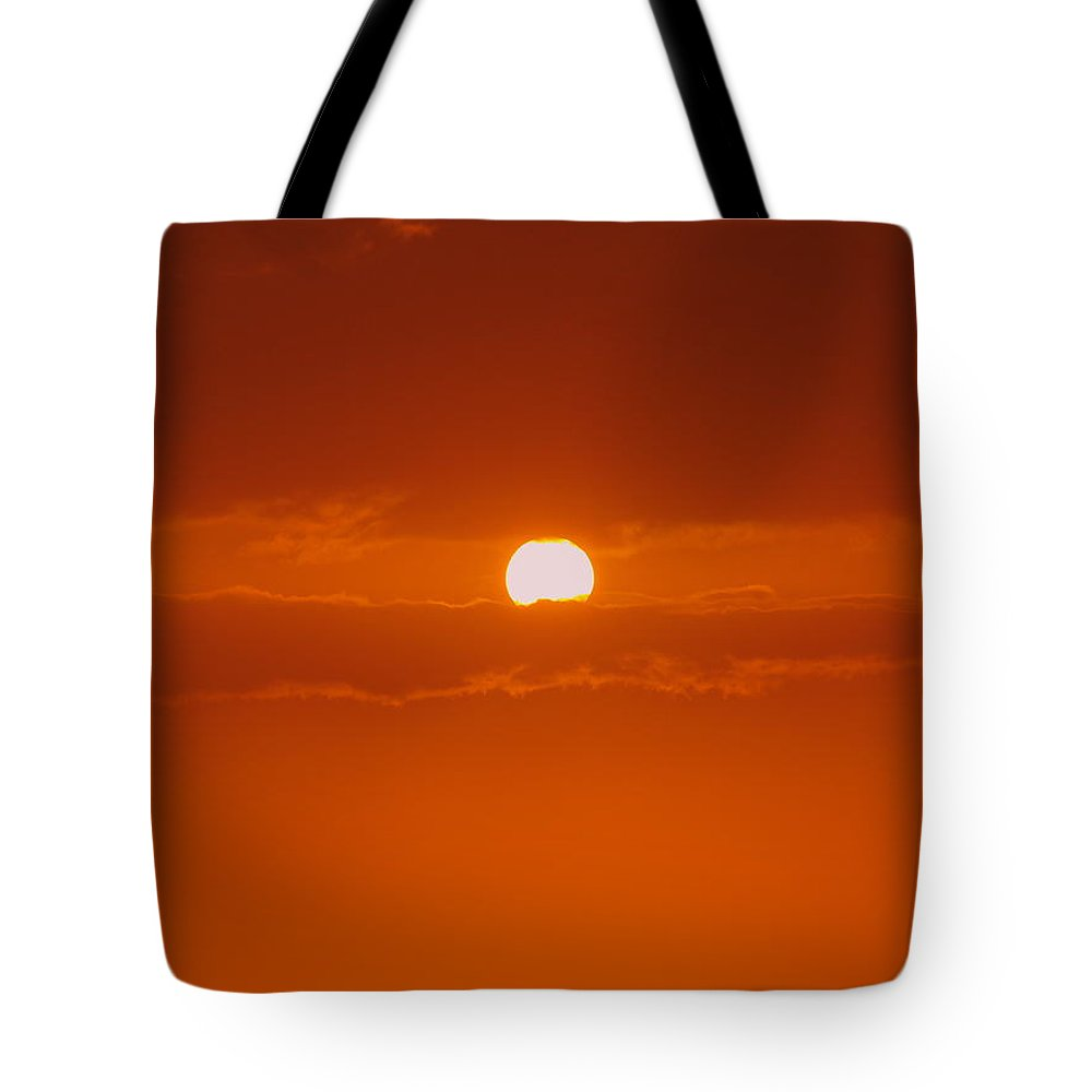 Sun Rise Tote Bag featuring the photograph Sunset In Kona by Athala Carole Bruckner