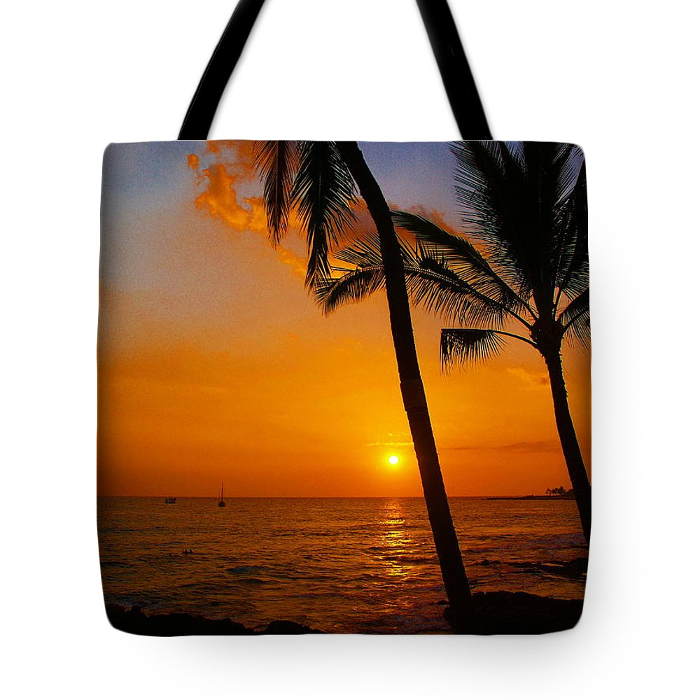 Sunset Tote Bag featuring the photograph Sunset In Paradise by Athala Carole Bruckner