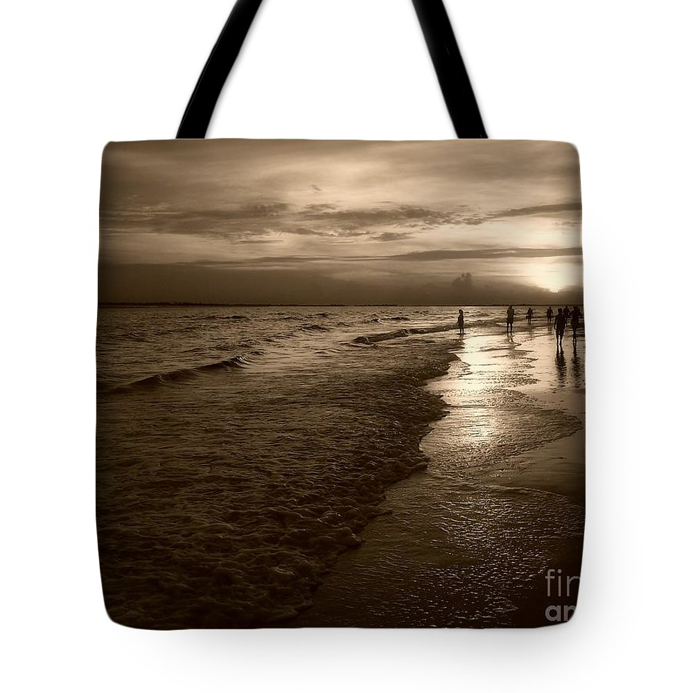 Sepia Tote Bag featuring the photograph Sunset In Sepia by Jeff Breiman