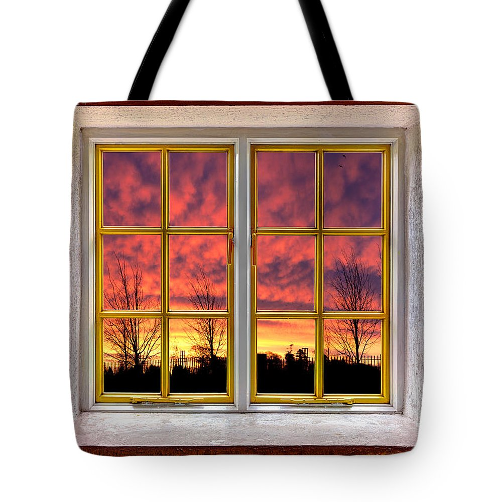 Architecture Tote Bag featuring the photograph Sunset In The Garden by Semmick Photo