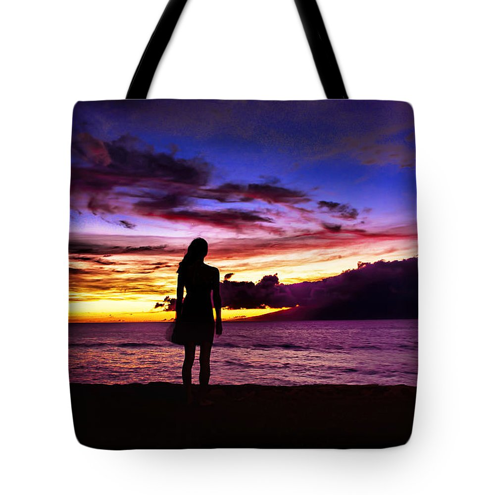 Dodsworth Tote Bag featuring the photograph Sunset Maui Style by Bill Dodsworth
