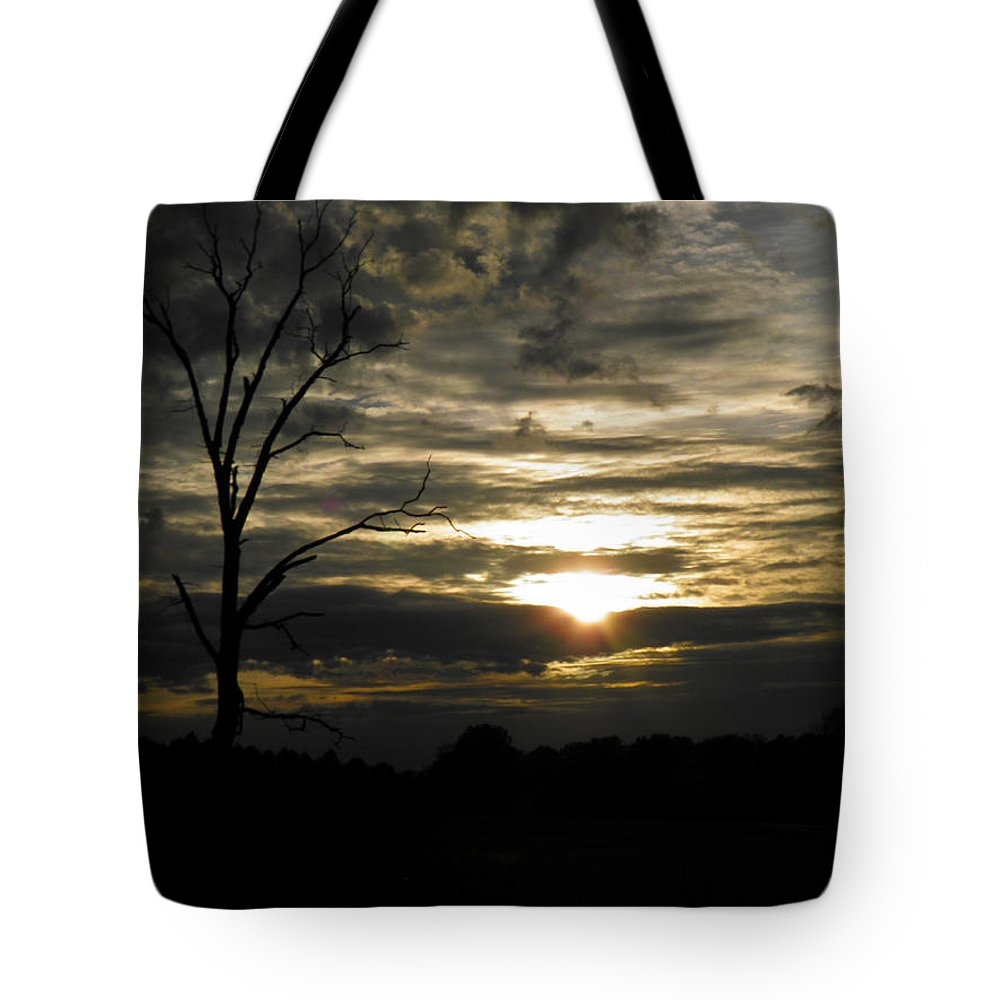 Dead Tote Bag featuring the photograph Sunset Of Life by Nick Kirby