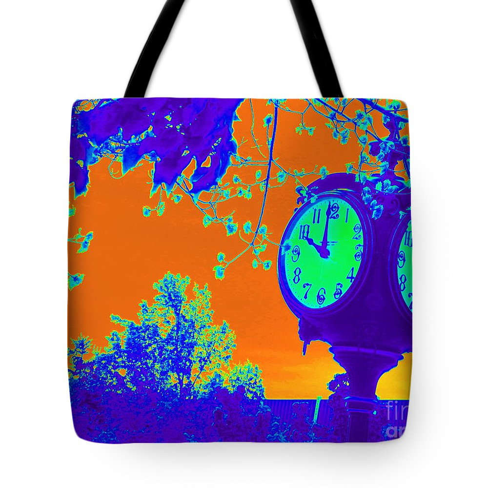 Acrylic Prints Tote Bag featuring the photograph Sunset Of Time by Bobbee Rickard