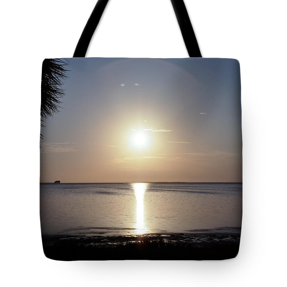 Sunset Tote Bag featuring the photograph Sunset On The Gulf Of Mexico by Bill Cannon