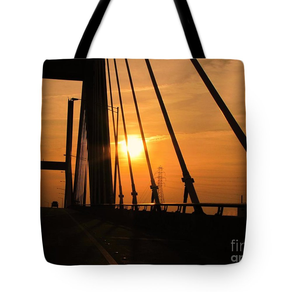 Sunset Tote Bag featuring the photograph Sunset On The High Rise by Michelle Powell