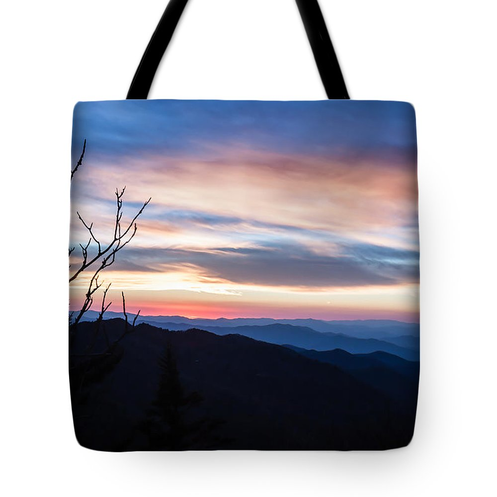 Sunset Tote Bag featuring the photograph Sunset On Water Rock Knob Blue Ridge Parkway Scenic Photo by Rob Travis