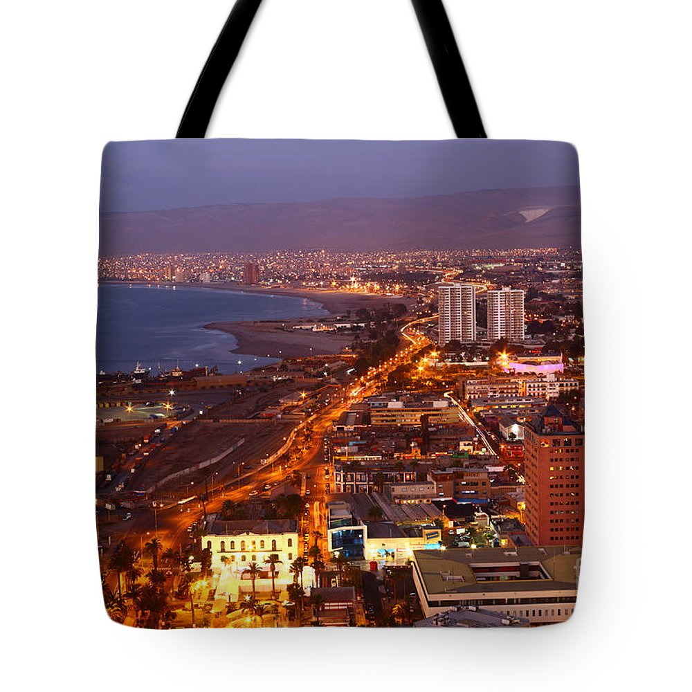 Chile Tote Bag featuring the photograph Sunset Over Arica Chile by James Brunker