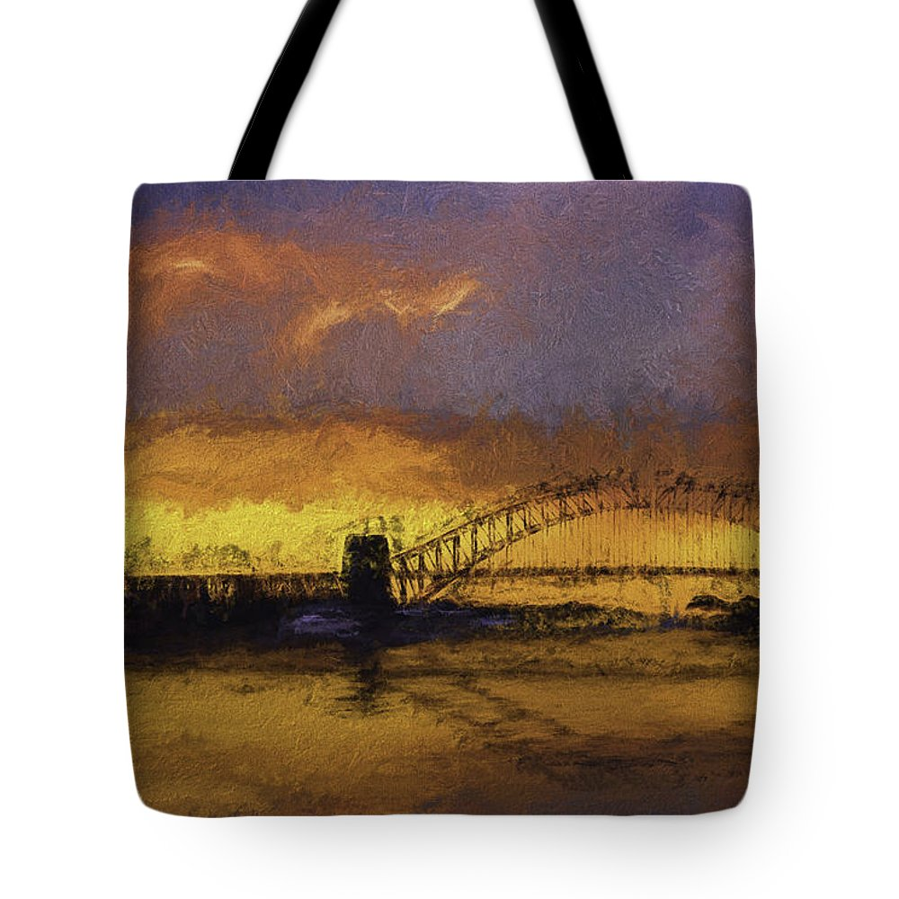 Clouds Tote Bag featuring the photograph Sunset Over Sydney Harbour A Turneresque View by Sheila Smart Fine Art Photography