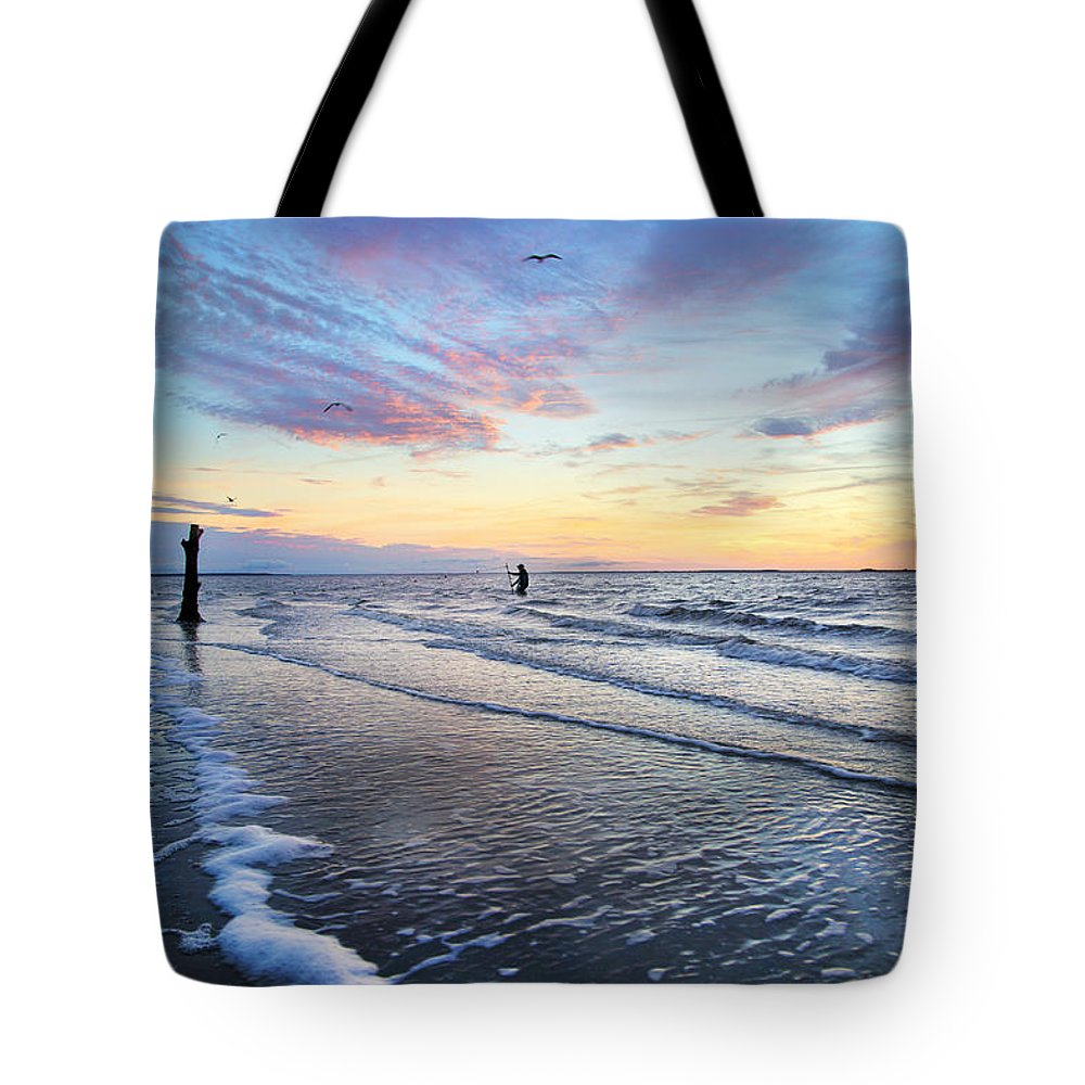 Sunset Tote Bag featuring the photograph Sunset Paradise Jekyll Island by Betsy Knapp