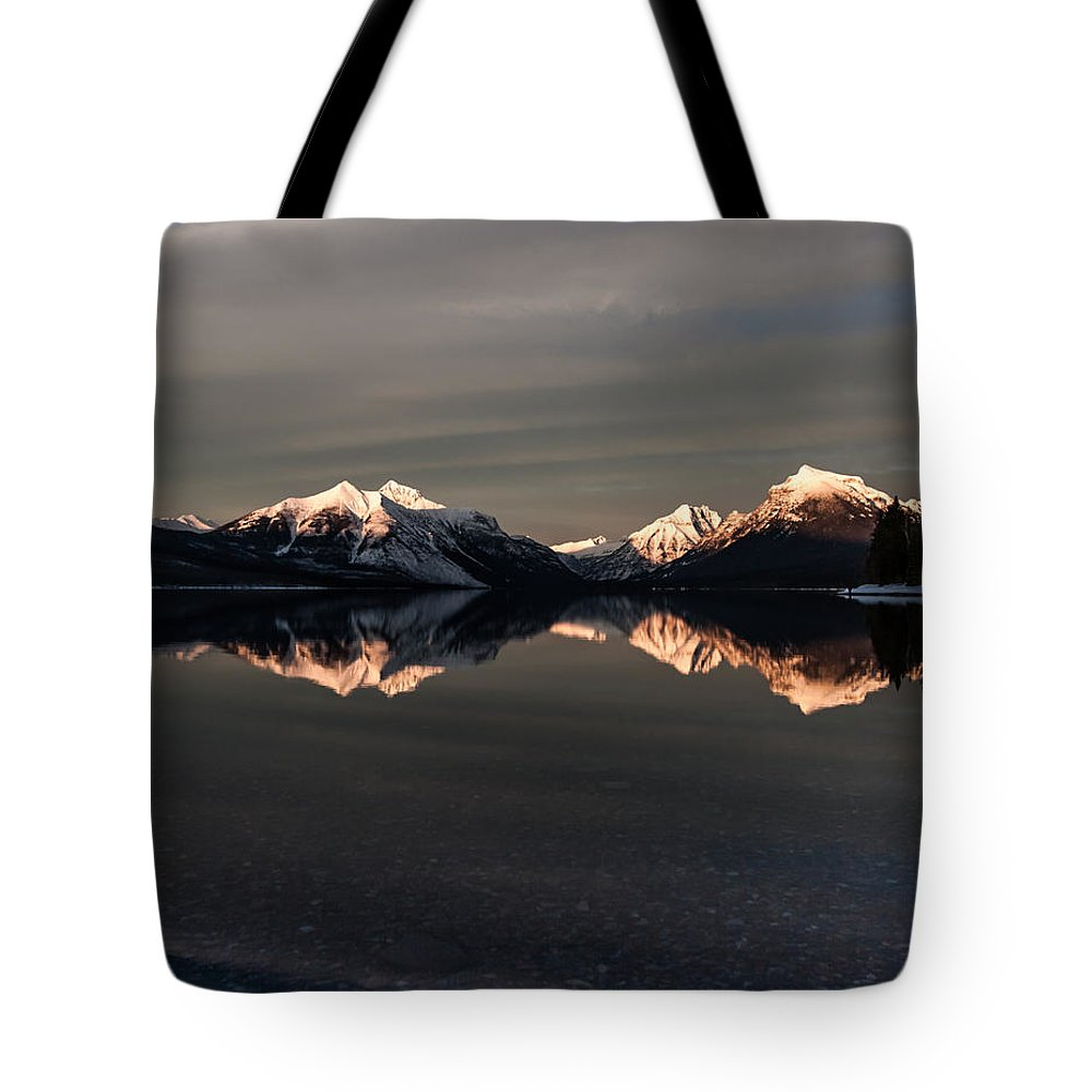 Mountain Tote Bag featuring the photograph Sunset Peaks by Aaron Aldrich