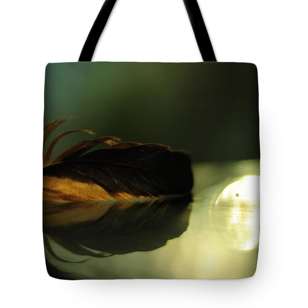 Conceptual Tote Bag featuring the photograph Sunset by Rebecca Sherman