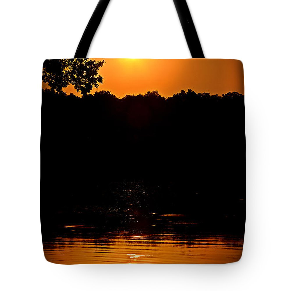 Nautical Tote Bag featuring the photograph Sunset Reflection by Sennie Pierson