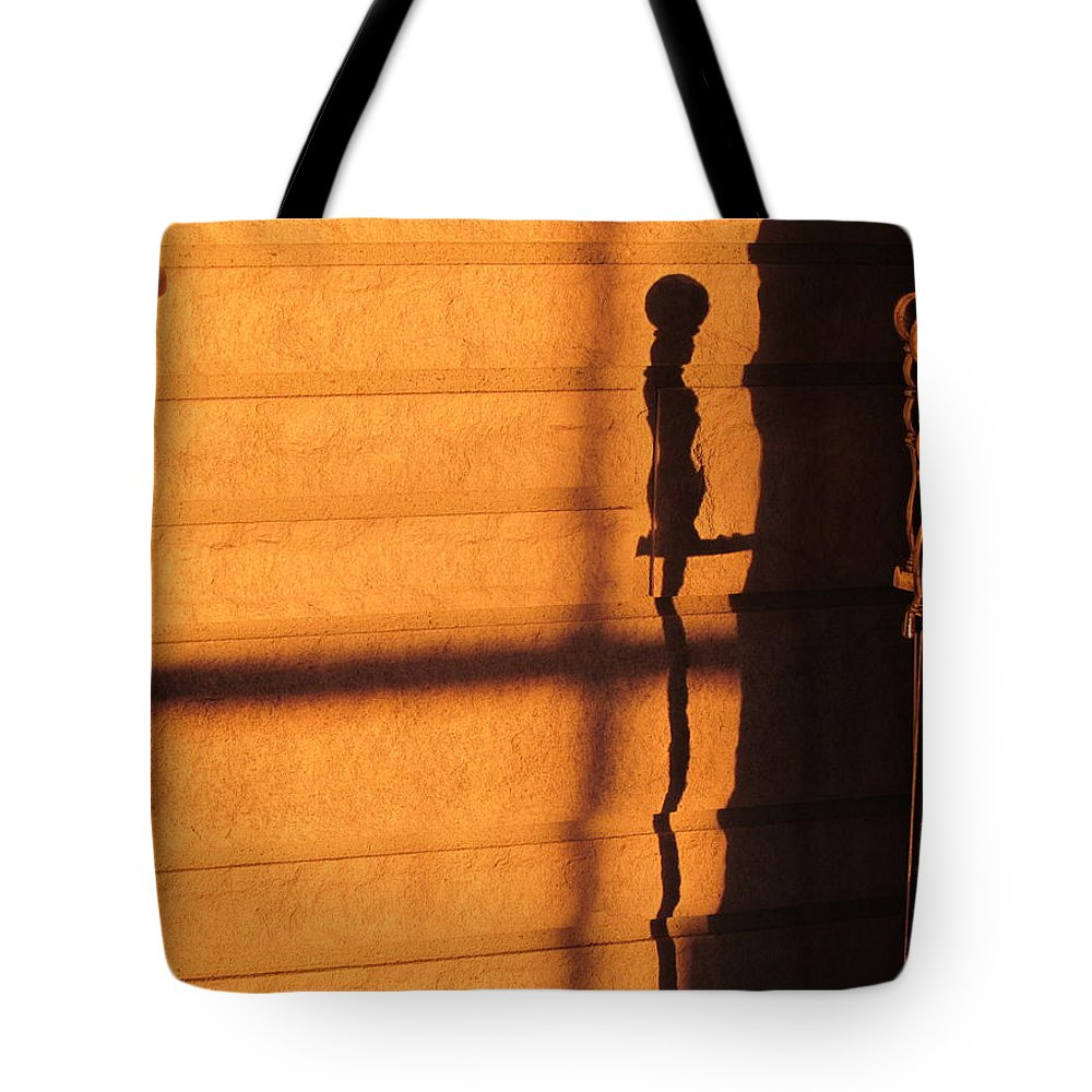 Sun Tote Bag featuring the photograph Sunset Shadow Indoor by Tina M Wenger