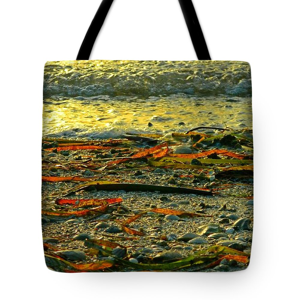 Sunset Tote Bag featuring the photograph Sunset Shore by Jennifer Boisvert