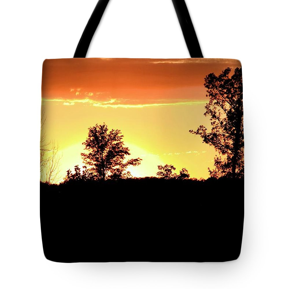 Silhouette Tote Bag featuring the photograph Sunset Silhouette by Dan Sproul