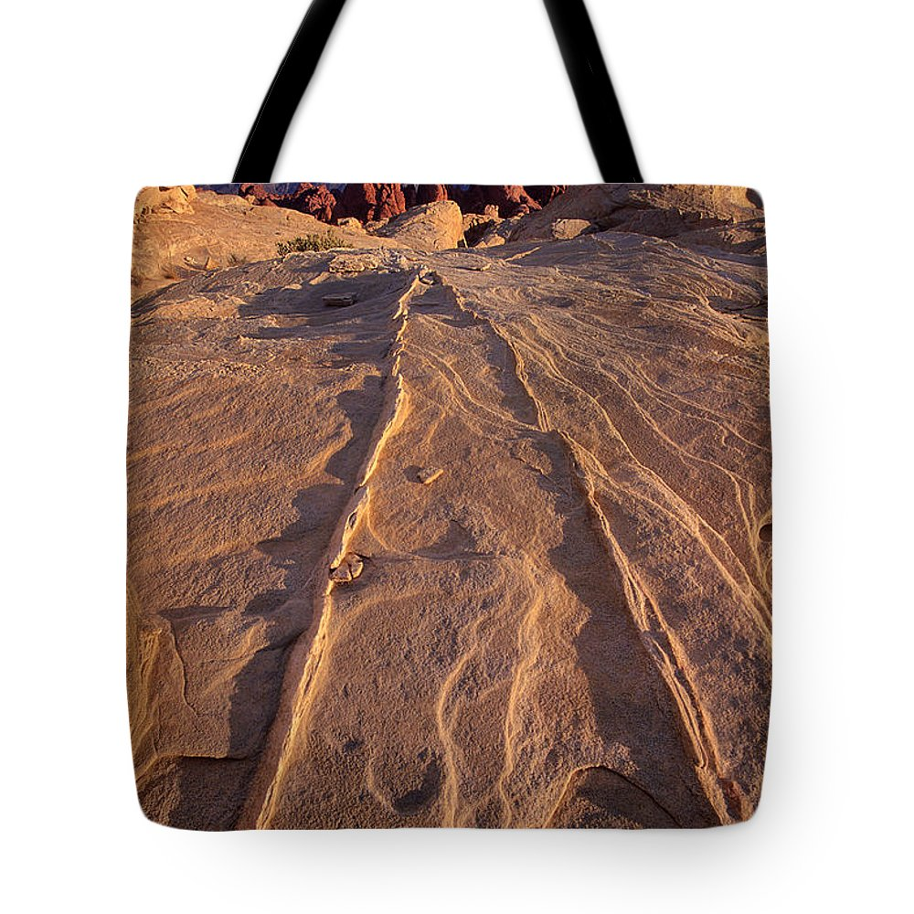 Dave Welling Tote Bag featuring the photograph Sunset Valley Of Fire State Park Nevada by Dave Welling