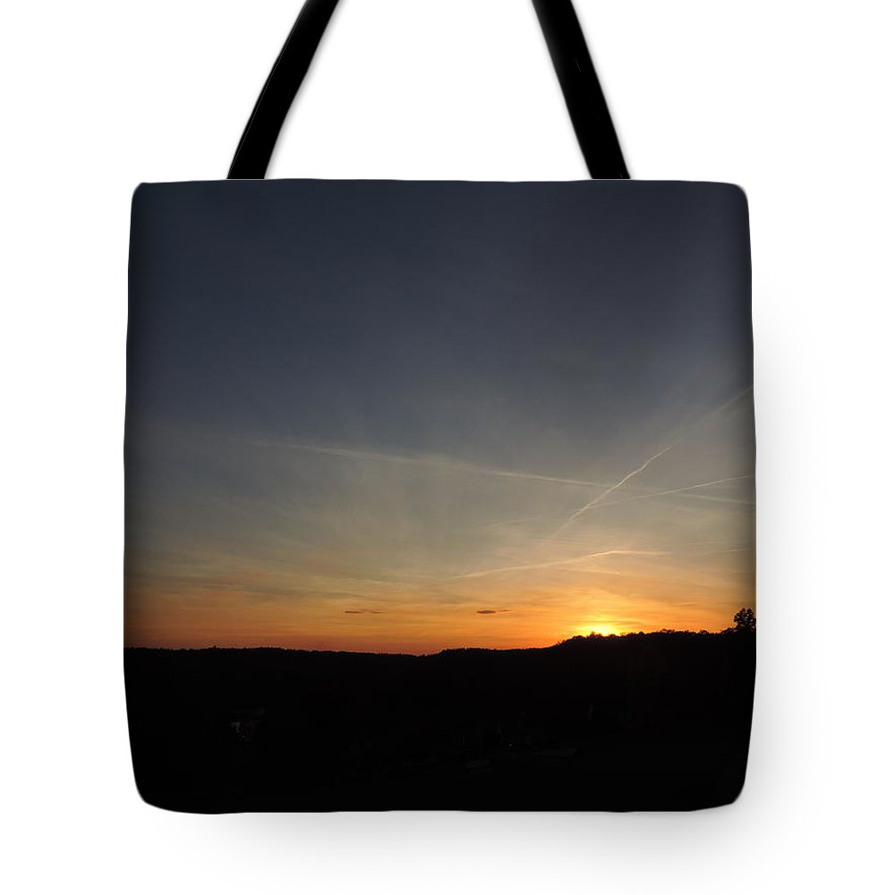 Dusk Tote Bag featuring the photograph Sunset With Trees 5 by Cityscape Photography
