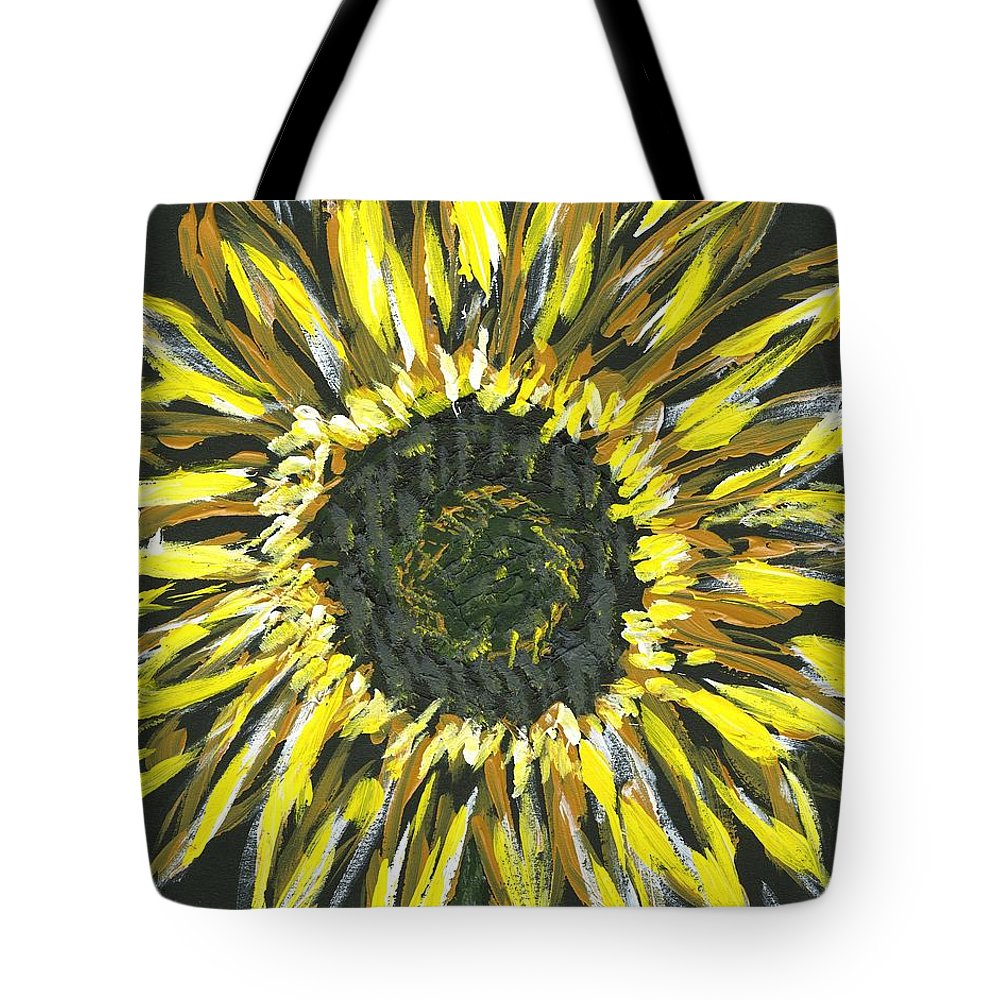 Flower Tote Bag featuring the painting Sunshine by Alice Faber